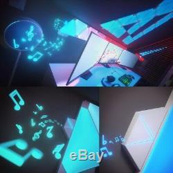 Nanoleaf Rhythm Smarter Kit Color Changing LED Lights 9 Triangle Light Panels