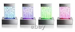 Nebula Tabletop Bubble Wall Water Feature Fountain Colour Changing Lights Indoor