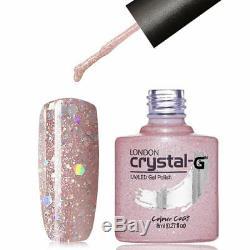 New Crystal-G Diamond Bling Glitters D- Range D-16 UV / LED Gel Nail Polish