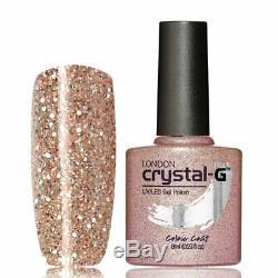 New Crystal-G, Fine Glitters E- Range E-36 UV/LED Gel Nail Polish, UK Brand
