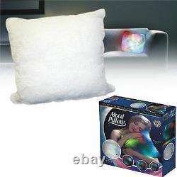 New Super Soft Plush Colour Changing Led Light Up Mood White Cushion Pillow
