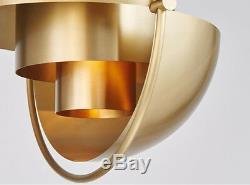 Nordic Luxury Round Metal Pendant Light Shape Changing Chandelier Golden Color