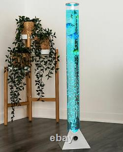 Novelty Colour Changing LED Bubble Lamp Tube Floor Tower Sensory Mood Light Fish