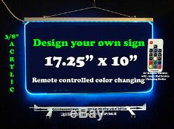 Personalized LED Sign-Design your own Sign, Handmade Multi-Color Changing
