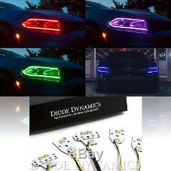 RGBW LED Color Changing Headlight Accent Bluetooth Set For 15-18 Dodge Charger