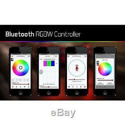RGBW RGB LED Multi-Color Headlight Halo Bluetooth Set For 15-19 Dodge Challenger