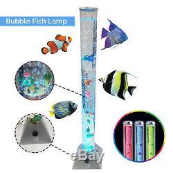 RGB Colour Changing LED Water Bubble Fish Aquarium Tube Sensory Mood Night Lamp