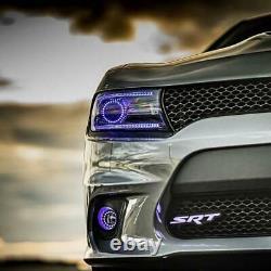 RGB SRT Color-Changing Dodge Mopar LED Badge Emblem Grill Logo