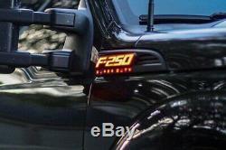 Recon Illuminated F-250 Black Fender Emblems For 2011-2016 Ford F-250 Super Duty