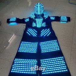 Remote Control 7 Color Change LED Robot Clothing Clothes Costume Party Suit