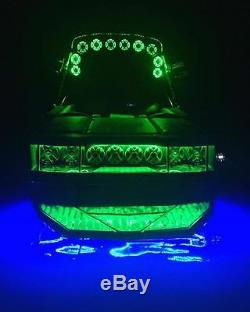 Rgb Color Changing Titan Led Underwater Boat Drain Flange Led 8000 Lumens