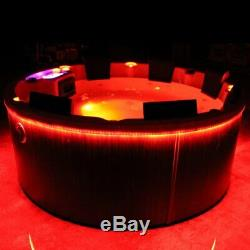 Round Outdoor Whirlpool Hot Tub round 195 cm with Heater Ozone LED for 7 Persons