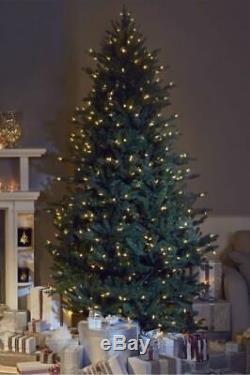 Sb25 7ft Santas Best Pre Lit Colour Change Warm Paste Led Lights Christmas Tree