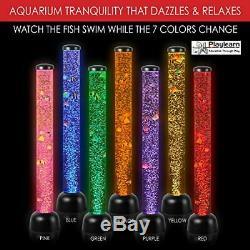 Sensory LED Bubble Tube Fake FishTank Floor Lamp 3.3 FT by Playlearn USA