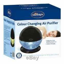 Silentnight Colour Changing LED Air Freshener Purifier Humidifier Ioniser