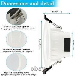 Smart WIFI/Bluetooth APP RGB LED Ceiling Down Light Recessed Spotlight Lamp 220V