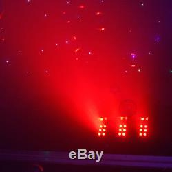 Smoke Bubble Machine Colour Changing LED Lights DMX High Output Fog Pro DJ Disco