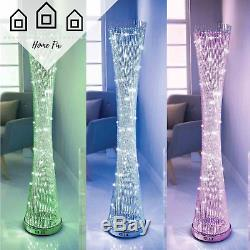 Spiral Floor LED Light Colour Changing Lamp Indoor Luxury Living Room Lighting