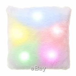 Super Soft Plush Colour Changing Led Light Up Mood Pillow Comfortable Square