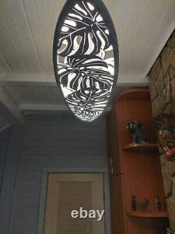 Surfing Ceiling Light for Home Decor. Lamp Surfboard, nightlight for wall decor