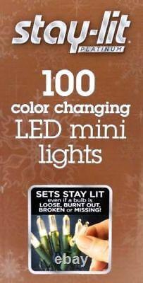 Sylvania Stay-Lit Platinum Color Changing 3-Function LED Mini X-mas Square
