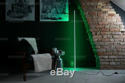 The Rue Colour Changing Minimalist LED Corner Floor Lamp White (Remote)
