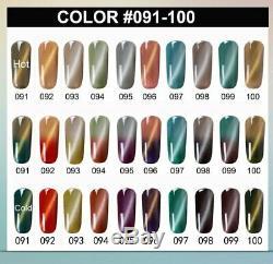 Thermal Magnetic &Temperature Color-Changing Gel Nail Polish Soak-off UV LED Top
