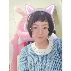 Third-generation LED high-performance cat ear headphone Color Changing Pink cz29