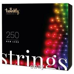 Twinkly 250 RGB LED App Controlled Smart Christmas Lights String Gen II
