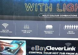 UK CleverSpa Monte Carlo 6 Person LED Hot Tub NOT Lay Z Spa St Lucia Bali Hawaii