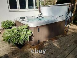 VGC 6 Seat ECO Hot Tub Remote Stereo LEDs Fountains Lid Cradle Steps Spa Jacuzzi