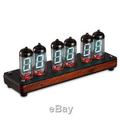 Vintage IV-11/-11 Retro VFD Nixie Tube Clock Desk LED Alarm Clock Assembled