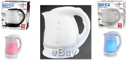 White Colour Changing Led Cordless Electric Kettle 1.8 Litre 2000w Illuminated