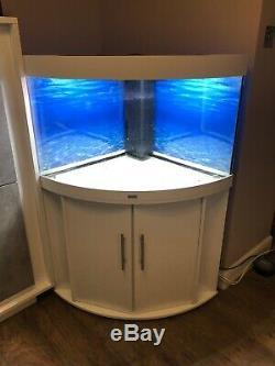 White Juwel Trigon 190 Corner Fish Tank Led Colour