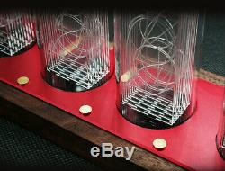 Wooden WiFi LED VFD Tube Clock Alarm Voice Timer Not Nixie Clock IR Remote Desk