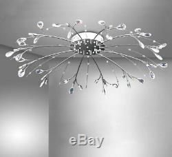 XXL led crystal ceiling lamp RC + color change light 90cm chandelier 12 arms